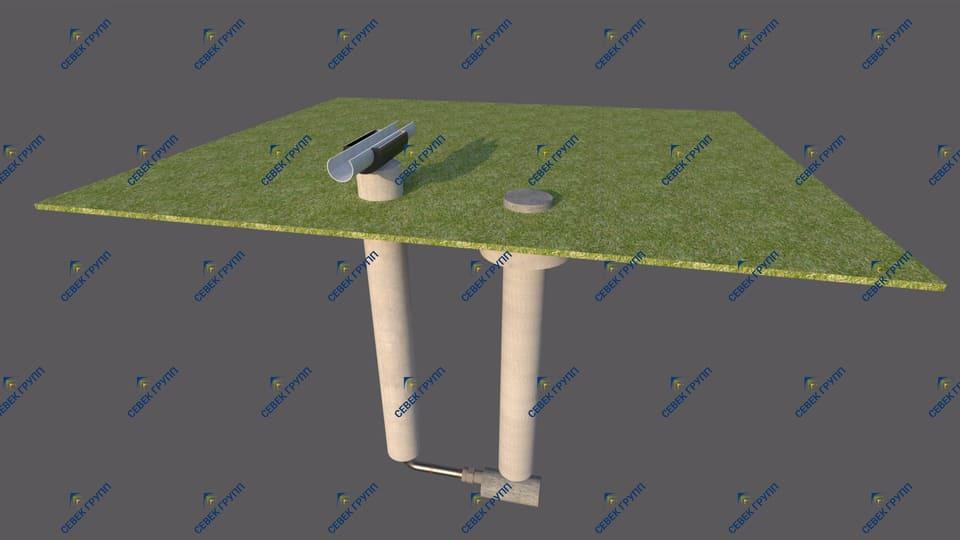 Водоотделитель с ковером (модель 2 для надземного трубопровода)