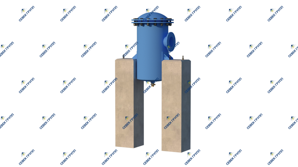 Установленный концевой водоотделитель