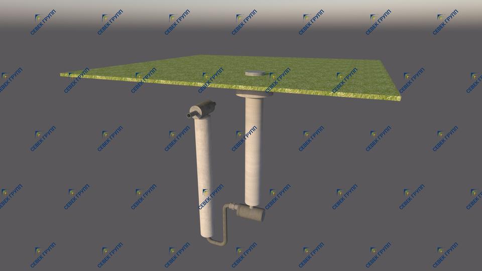 Водоотделитель с ковером (модель установки 2)
