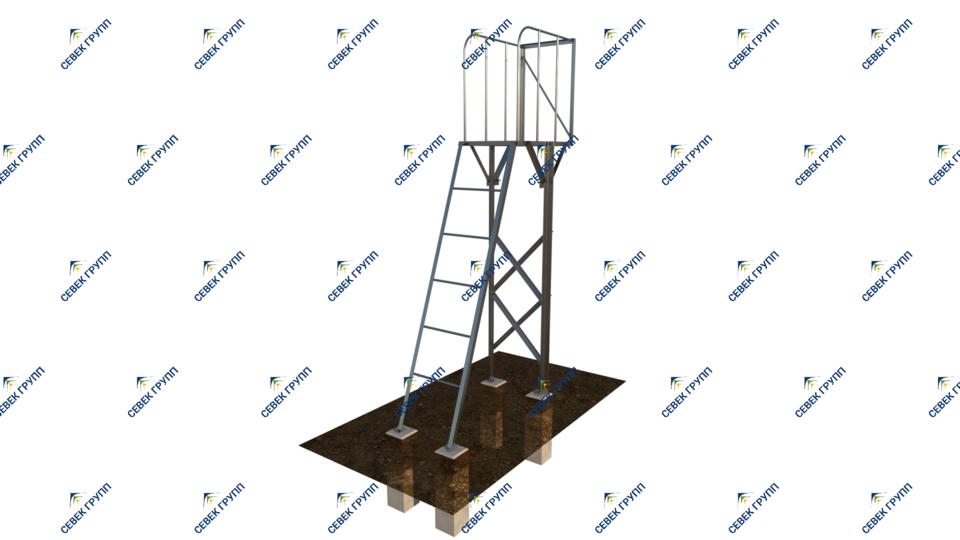 Лестница с площадкой для воздухосборника ТО-167-31-00