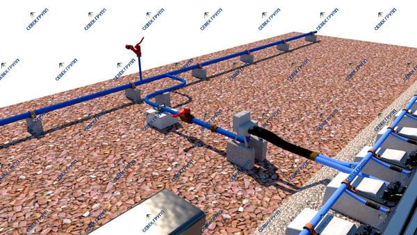 Установка ЭПК у перекрестной стрелки с одной стороны ТО-167-43-00