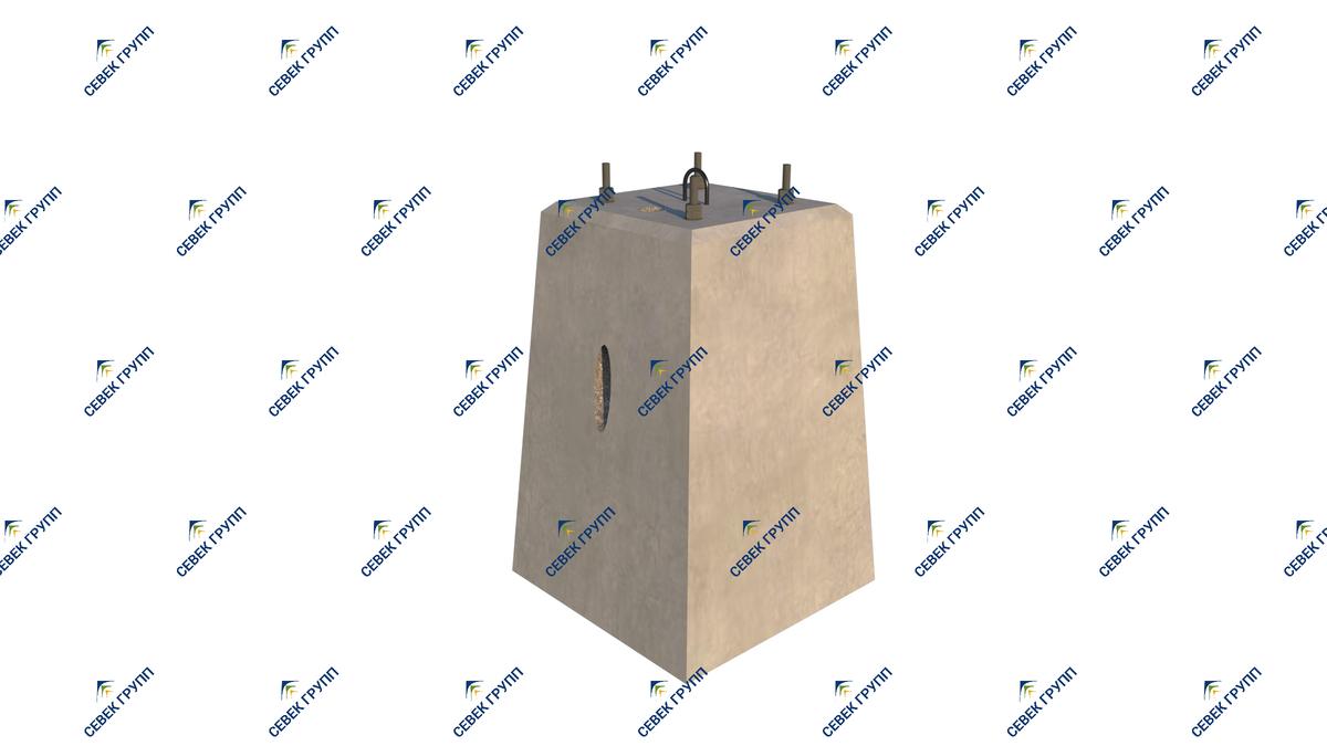 13237-00-00 СБ (фундамент для светофоров со складной лестницей)