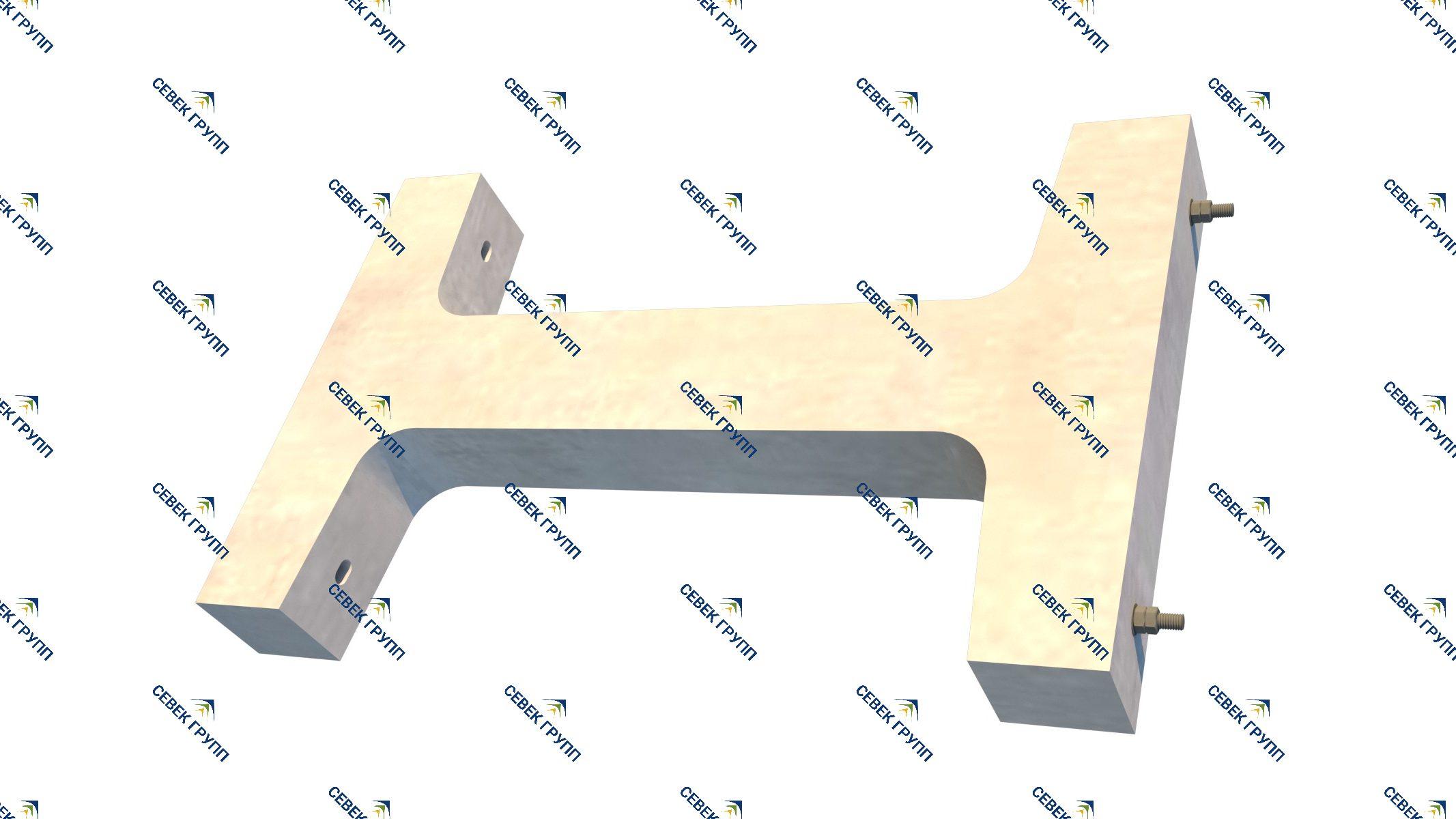 Стойка для релейных шкафов типа ШМ 13258-00-00А СБ