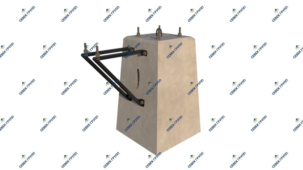 Фундамент усиленный для светофора 15379-00-00 СБ с лестницей и тр. ящиками