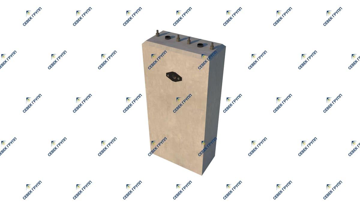 У-12810-00-00 СБ (фундамент тип II для карликового светофора)