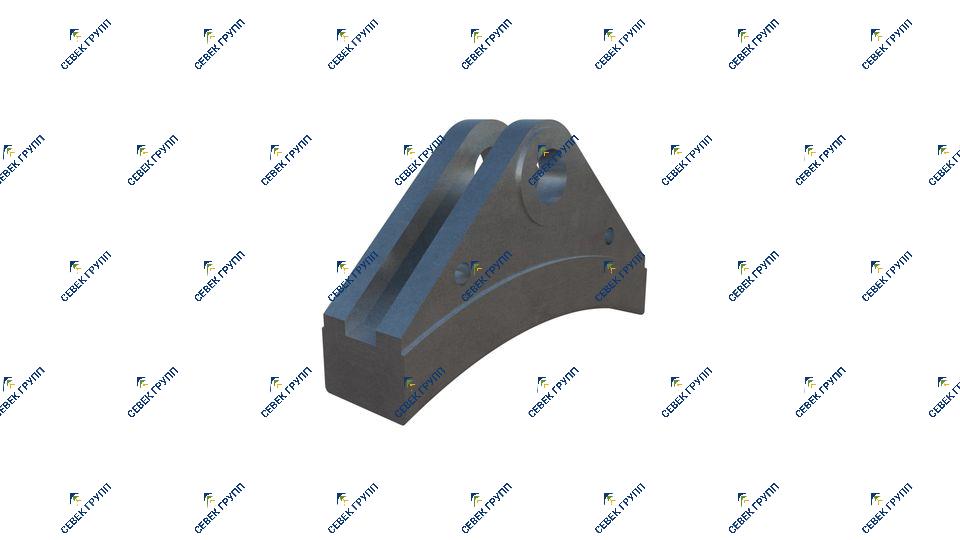 Тормозная колодка для дрезины АГМу 2026.08.02.009
