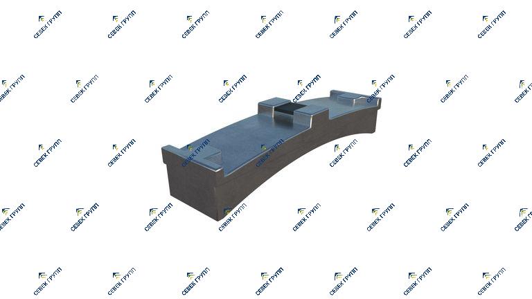 Тормозная колодка для дрезины ДГКу 2646.01.08.320