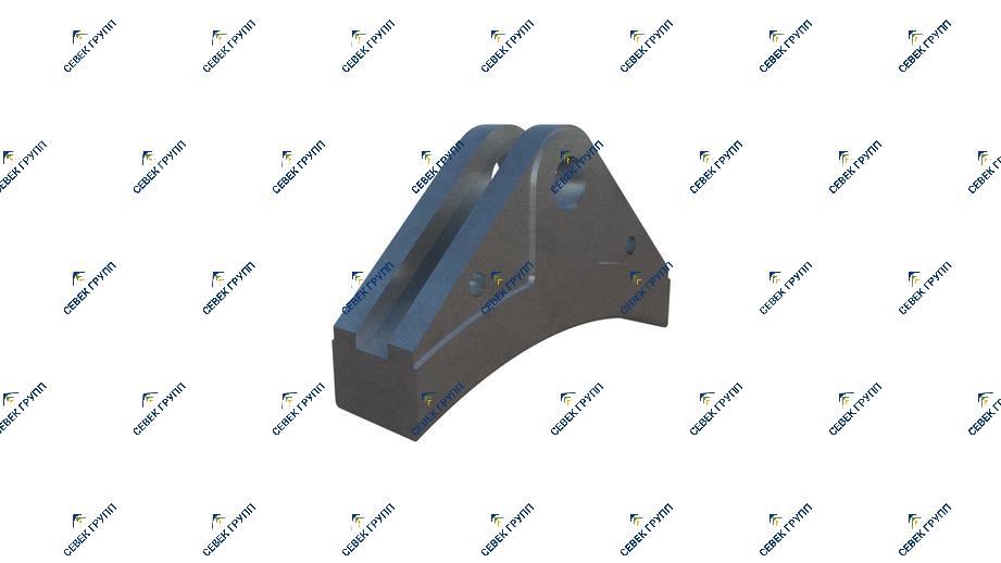 Тормозная колодка для дрезины АГМу 535.063.01А