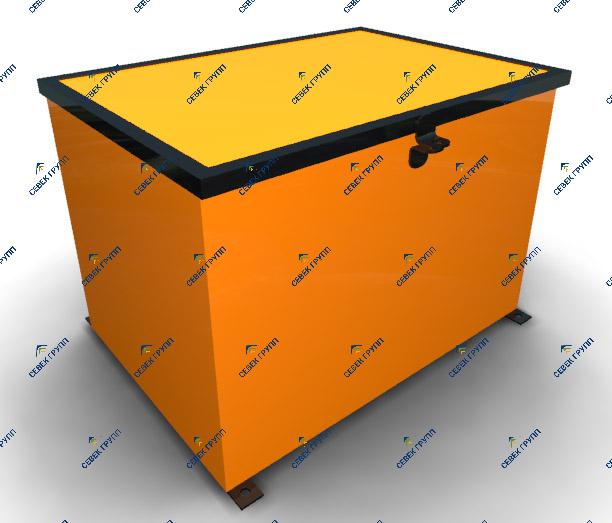 Ящик для хранения ЖД башмаков
