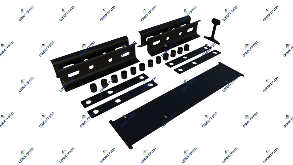 Комплект деталей изостыковой изоляции Р-65 для стыка с объемлющими накладками с 6-тью отверстиями (проект 1.448.000)