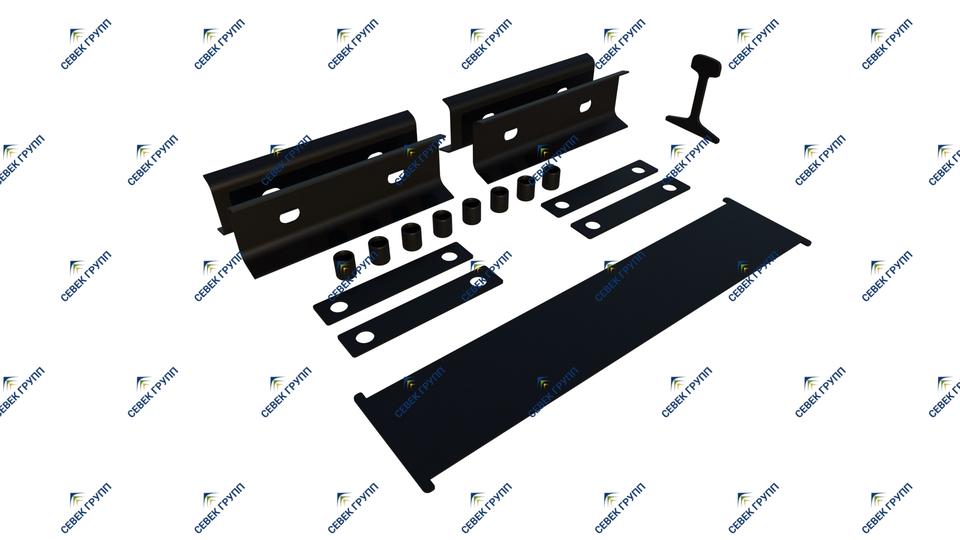 Комплект деталей изостыковой изоляции Р-65 для стыка с объемлющими накладками с 4-мя отверстиями (проект ЦП 217)