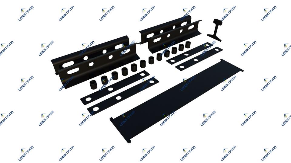 Комплект деталей изостыковой изоляции Р-50 для стыка с объемлющими накладками с 6-тью отверстиями (проект ЦП 208)
